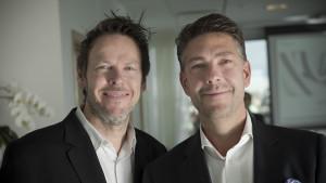 2015-09-21 NLI - Framtidens entreprenör Michel Malmborg (till vänster) Robert Vangstad